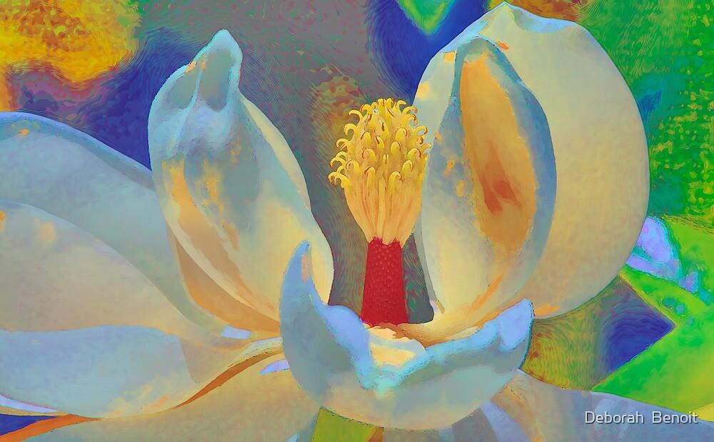 Magnolia Abstract by Deborah  Benoit