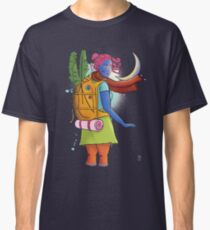 Don't come any closer - woman traveler illustration Classic T-Shirt