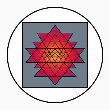 Sri Yantra by merrypranxter