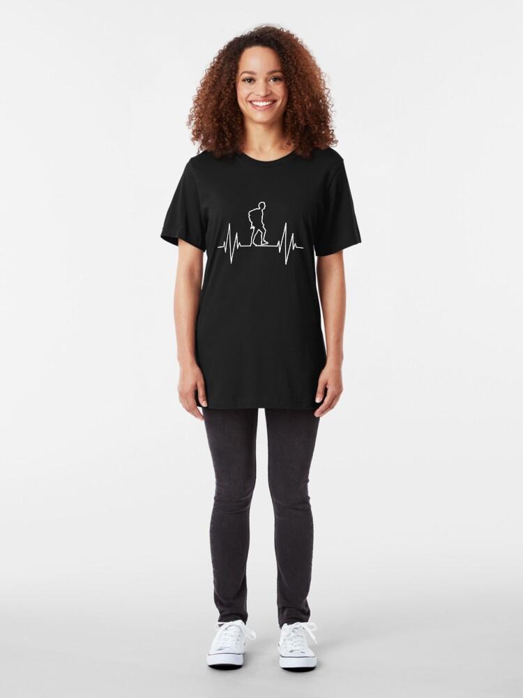 Alternative Ansicht von Hiking - Hike Heartbeat Slim Fit T-Shirt