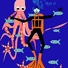 Scuba Diver, in an underwater playground! by Kristina Evans