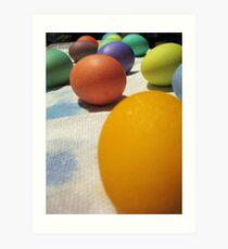 Free-Range (of color) Eggs Art Print