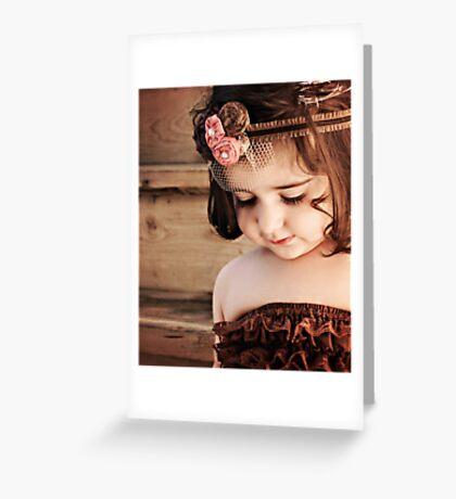 lace petti romper Greeting Card