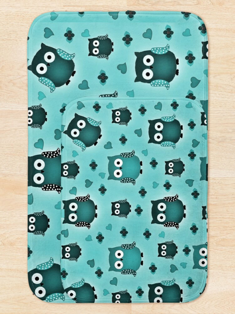 Alternate view of owls Bath Mat