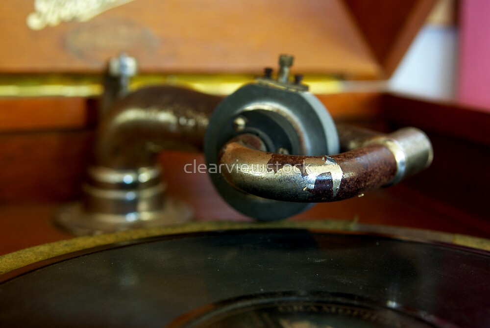 Old Phonograph Closeup by clearviewstock