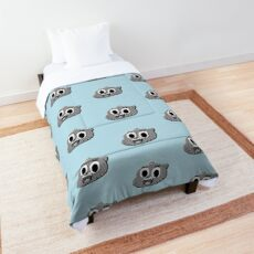 Black And White Gumball's Head  Comforter