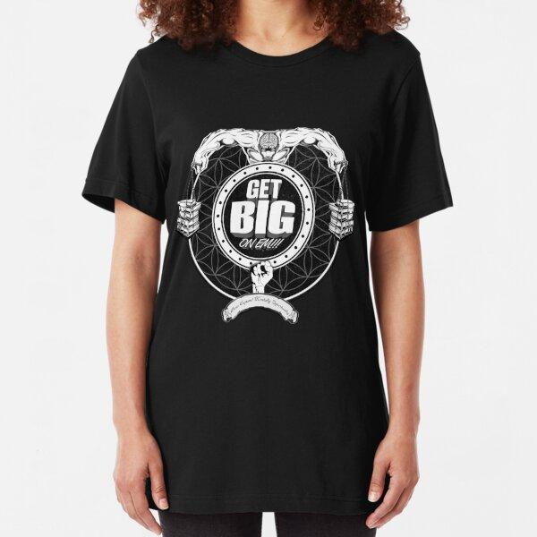 Get Big On 'Em!!! - BLACK Slim Fit T-Shirt