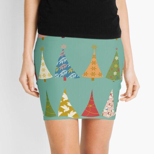 Christmas Trees Mini Skirt