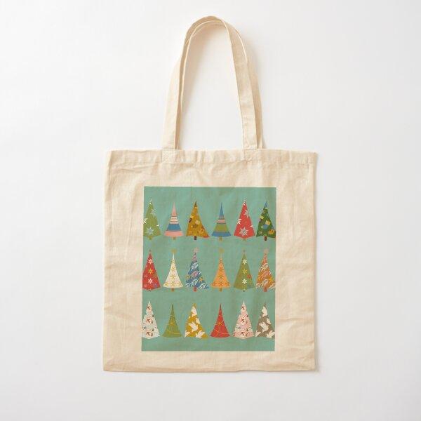 Christmas Trees Cotton Tote Bag