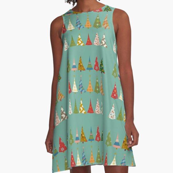 Christmas Trees A-Line Dress