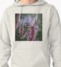 Foxglove fairy faerie fantasy elf pixie butterfly Pullover Hoodie