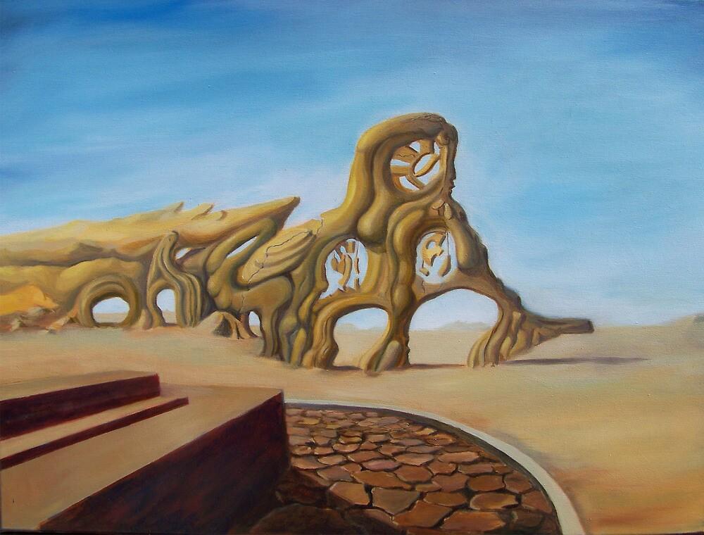 deserted superstructure  by Sander Bos