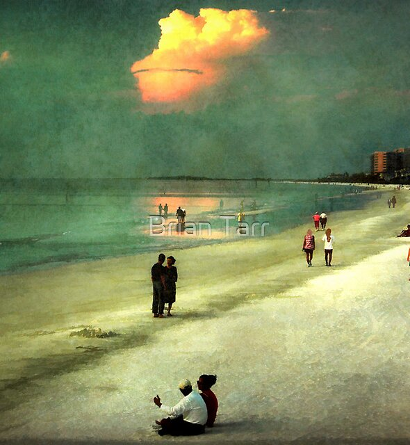 Clearwater beach at dusk by Brian Tarr