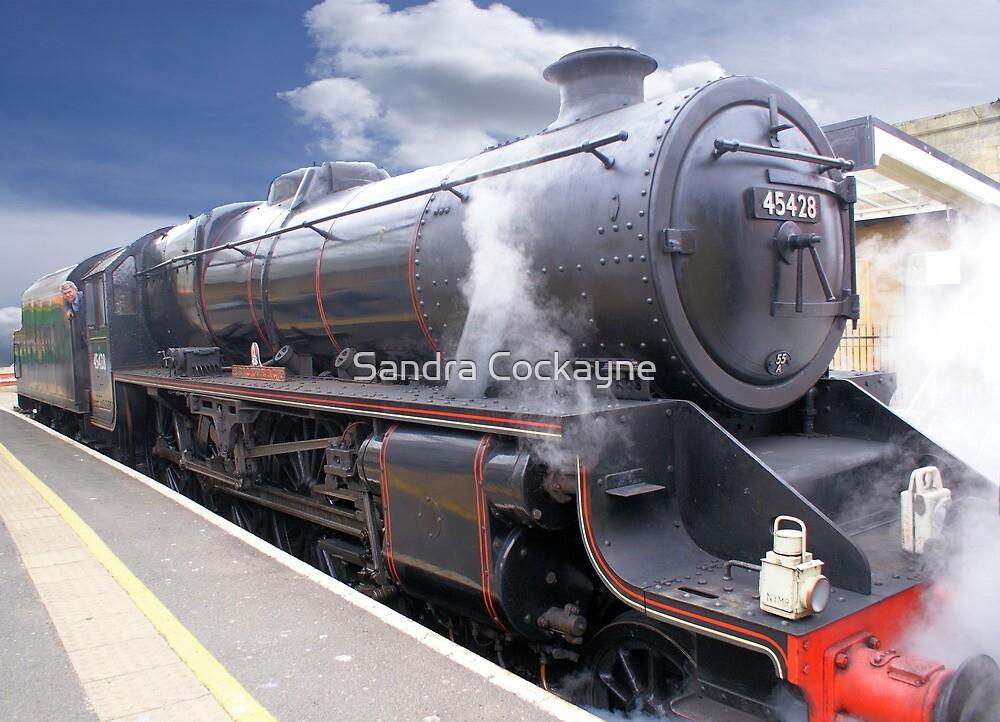 "The ""Eric Treacy"" Steam Train, Whitby, North Yorkshire, England by Sandra Cockayne"