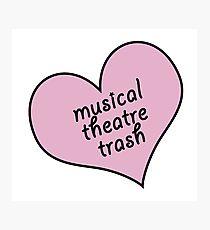 Musical theatre trash Photographic Print