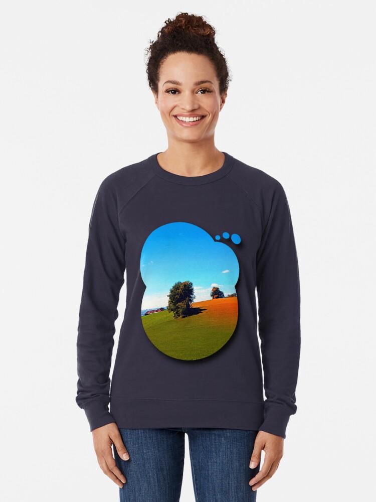 Alternate view of Trees, a hidden farm and fields of summer Lightweight Sweatshirt