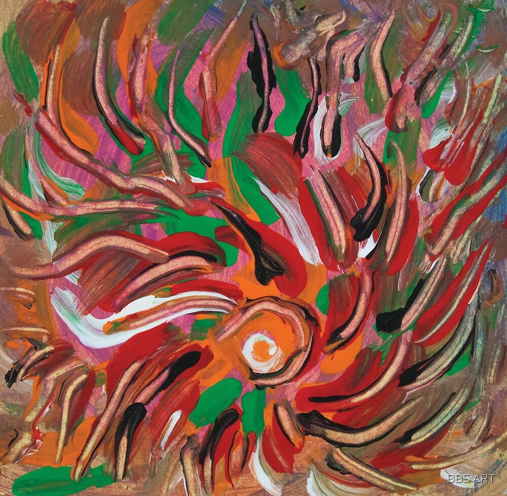 flaming vortex abstract by BBS ART