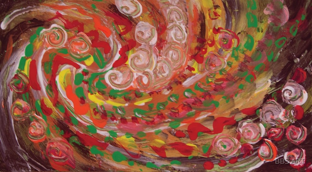 swirling curls abstraction by BBS ART