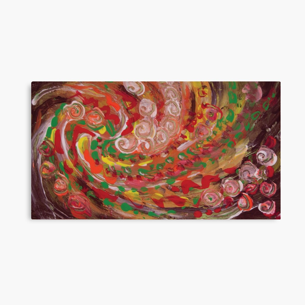 swirling curls abstraction Canvas Print
