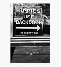 Hippies Use Back Door Photographic Print