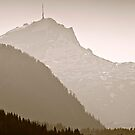 Mountain At Dusk by Richard Downes