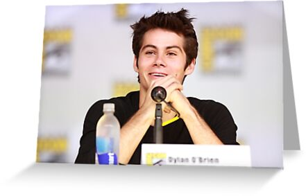 Dylan Obrien Comic Con Smile Greeting Cards By Hotteaissy Redbubble