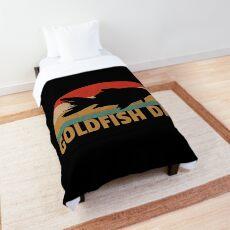 Retro Goldfish Vintage Goldfish Dad Fish Lover Gift Comforter