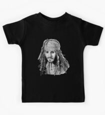 Captain Jack Sparrow (b/w) Kids Tee