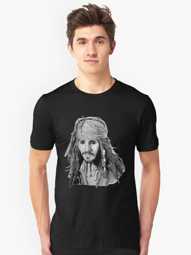 Captain Jack Sparrow (b/w) by MissCake