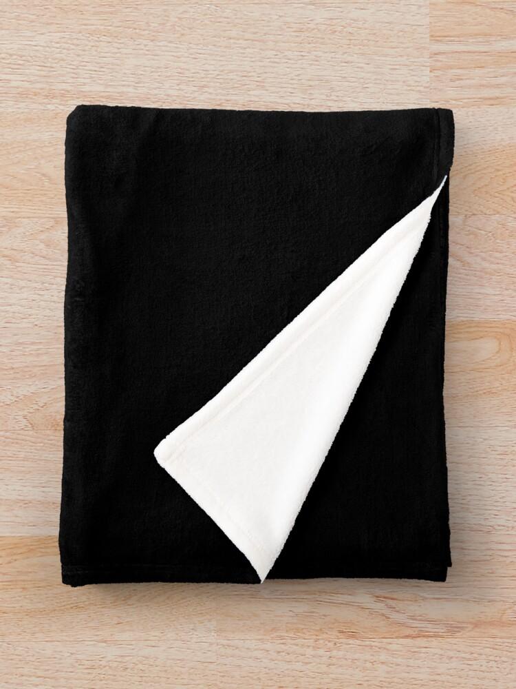 Alternate view of Tonight's The Night (Black) Throw Blanket