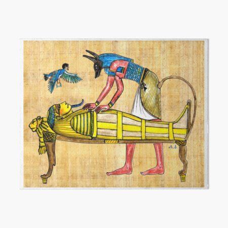 ANUBIS und Mumie Galeriedruck