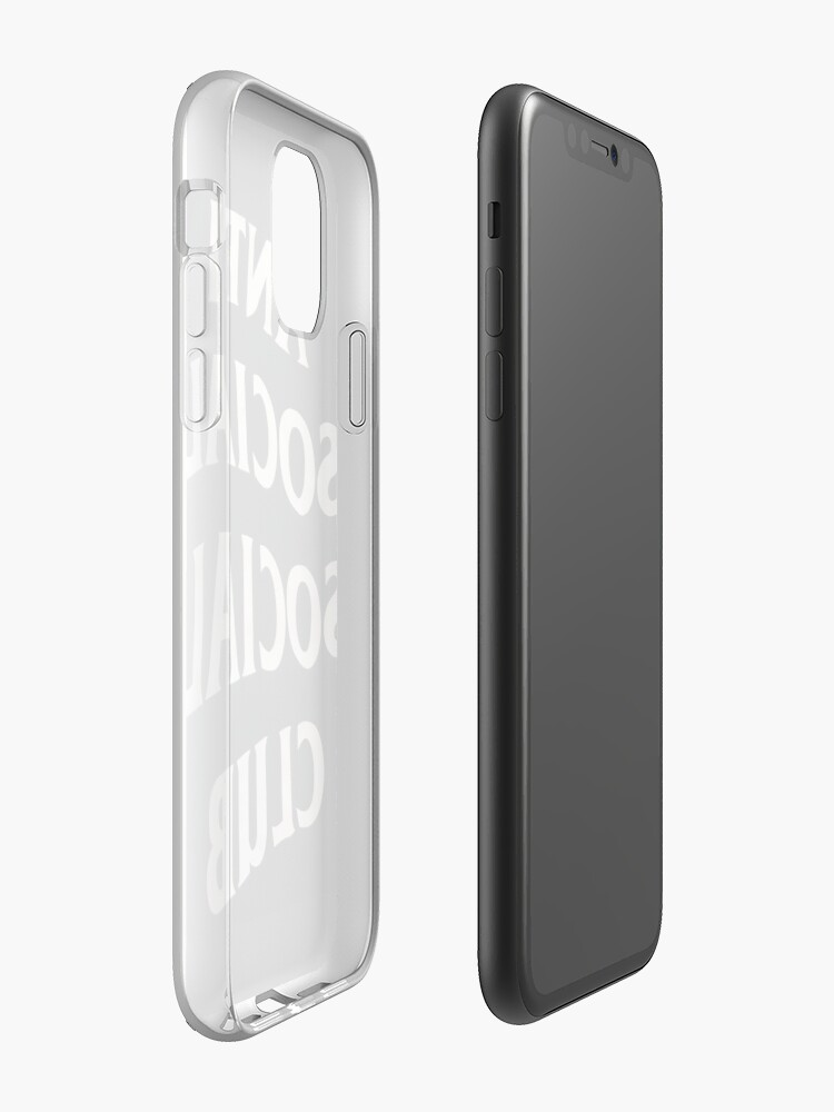 Coque iPhone « Club social anti social », par LEGITLUXURY447