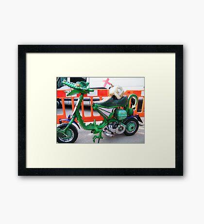 Dragon Custom Scooter Framed Print