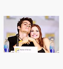Dylan O'Brien and Hollan Roden Comic Con Photographic Print