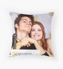 Dylan O'Brien and Hollan Roden Comic Con Throw Pillow