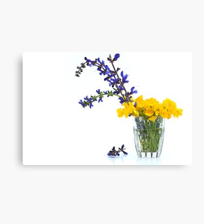 Sage and Buttercups Canvas Print
