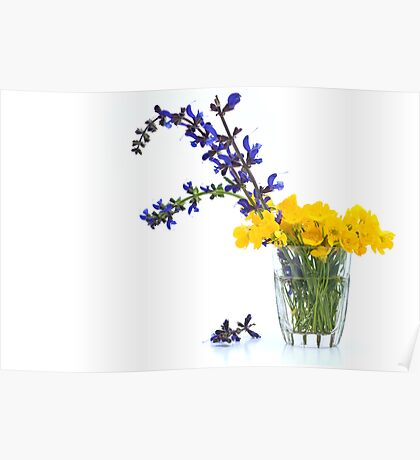 Sage and Buttercups Poster