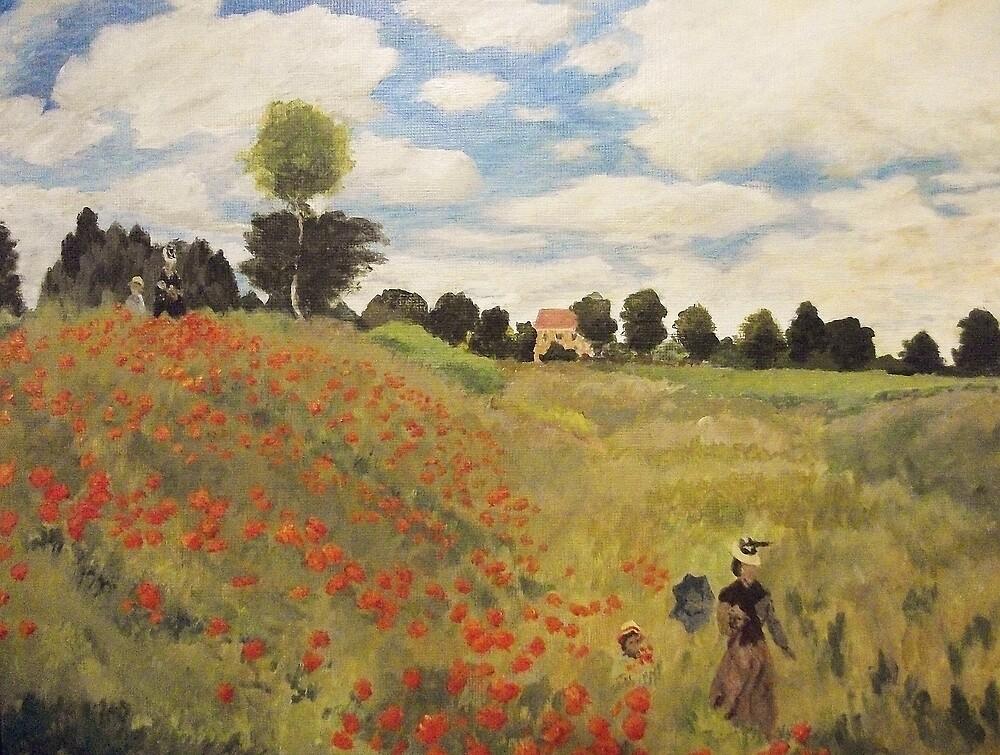 Quot Poppy Field Near Argenteuil Quot By Gary Adams Redbubble