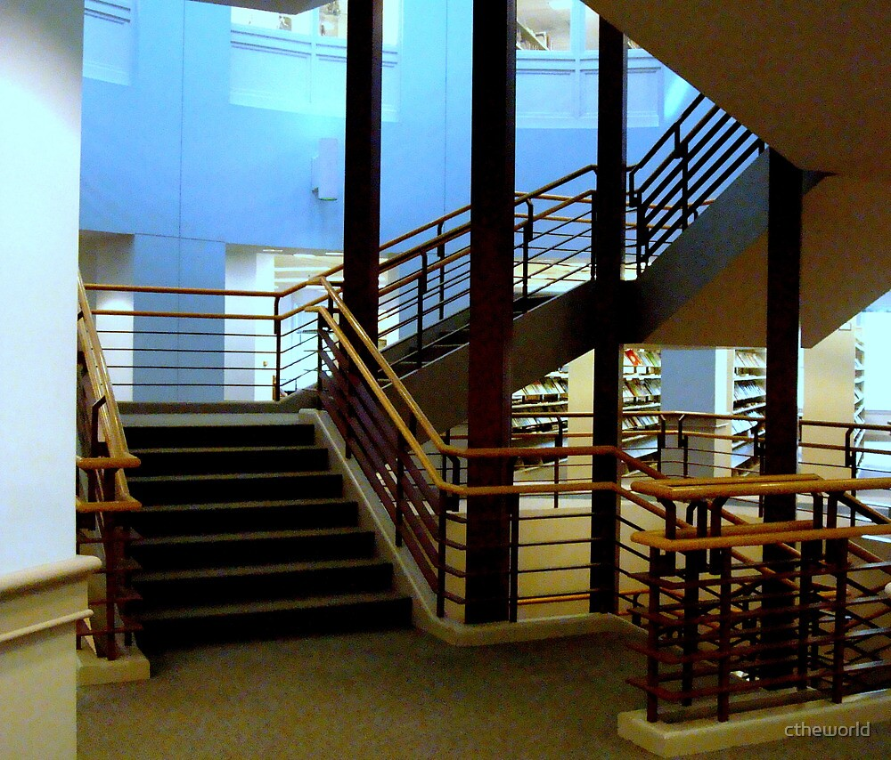 Library Stairs - Roanoke College Library  ^ by ctheworld