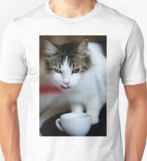 purrfect cappuccino, cat and coffee cup Unisex T-Shirt