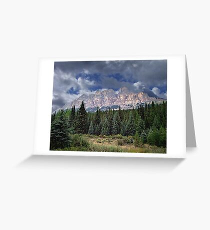Castle Mountain in Autumn Greeting Card