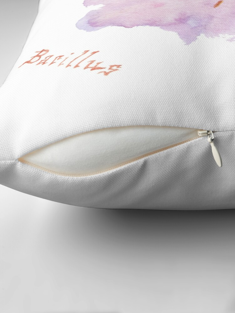Alternate view of Bacillus Art Prints Throw Pillow