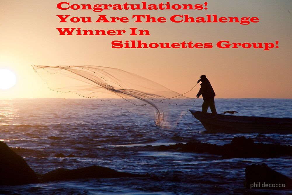 Sihouette's Group Challenge Banner Winner by phil decocco