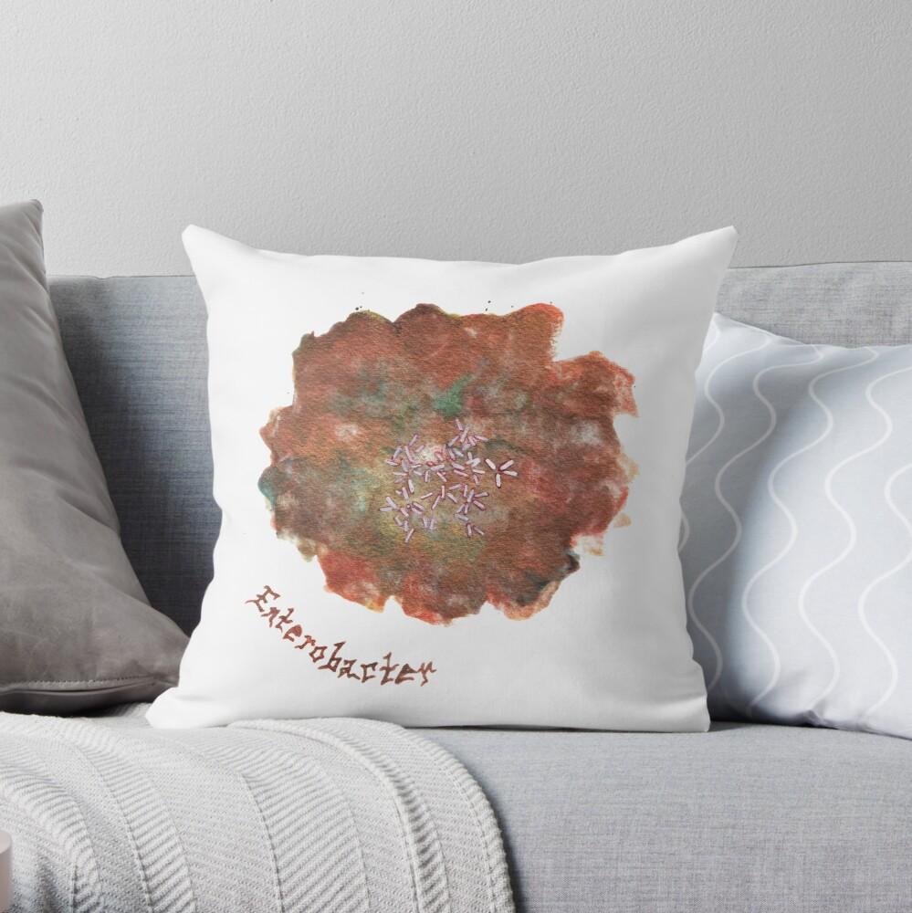 Enterobacter Art Prints Throw Pillow