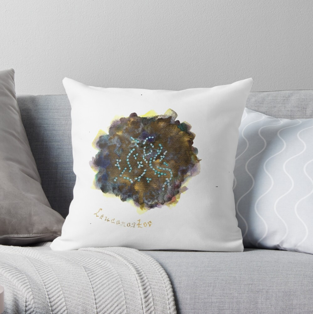 Leuconostoc Art Prints Throw Pillow