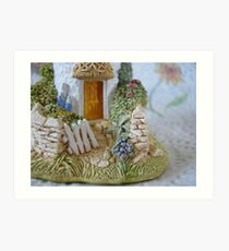 Miniature Cottage Welcome Art Print