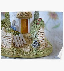 Miniature Cottage Welcome Poster