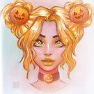 Pumpkin Girl by Darktownart