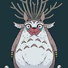 Deer God Totoro by crabro