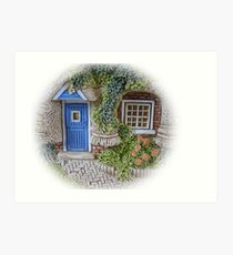 Miniature Cottage #2 Welcome Art Print